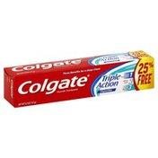 Colgate Toothpaste, Fluoride, Triple Action, Original Mint