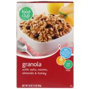Food Club Granola With Oats, Raisins, Almonds & Honey