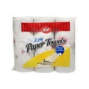 IGA 2-Ply Paper Towels Strong & Absorbent