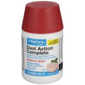 TopCare Dual Action Complete Famotidine 10 Mg, Calcium Carbonate 800 Mg, Magnesium Hydroxide 165 Mg Acid Reducer + Antacid Chewable Tablets, Mint