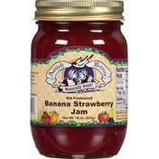 Amish Wedding Jam, Banana Strawberry, Old Fashioned