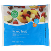 Food Club Unsweetened Mixed Fruit With Sliced Peaches, Whole Strawberries, Red Seedless Grapes, Dark Sweet Cherries & Pineapples Chunks