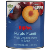 Hy-Vee Whole Unpitted Purple Plums In Sugar
