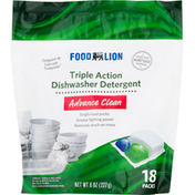 Food Lion Dishwasher Detergent, Triple Action, Advance Clean