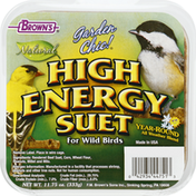 Brown's High Energy Suet For Wild Birds