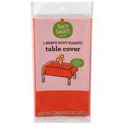 That's Smart! Heavy Duty Plastic Table Cover, Tangerine