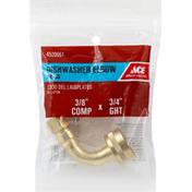 Ace Bakery Dishwasher Elbow, Brass