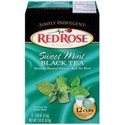 Red Rose Simply Indulgent Sweet Mint Black Single Serve Cups Tea