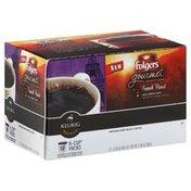 Folgers Coffee, Medium-Dark Roast, French Roast, K-Cup Packs