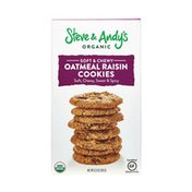Steve & Andy's Organic Soft & Chewy Oatmeal Raisin Cookies