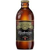 Budweiser Black Lager Beer Bottle