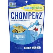 SeaSnax Seaweed Chips, Crunchy, Original (Sea Salt)