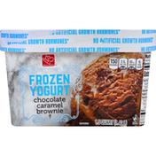 Harris Teeter Frozen Yogurt, Chocolate Caramel Brownie