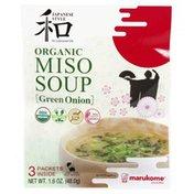 Marukome Miso Soup, Organic, Green Onion, Japanese Style