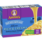 Annie's Deluxe Rich & Creamy Shells & Classic Cheddar Macaroni & Cheese