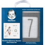 Gerber Blanket and Frame Set, Monthly Milestone