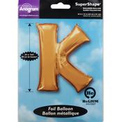 Anagram Foil Balloon, K, SuperShape