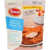 Tyson   Frozen Breaded Lightly Breaded Breast Strips Chicken