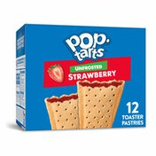 Kellogg's Pop-Tarts Toaster Pastries, Breakfast Foods, Unfrosted Strawberry