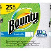 Bounty Select-A-Size, White, Large Rolls = 25% More Sheets  Paper Towels