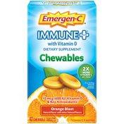 Emergen-C Immune+ Chewables with D Orange Flavor, Immune+ Chewables with D Orange Flavor