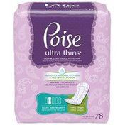 Poise Ultra Thins Light Absorbency Long Length Incontinence Pads