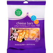 Food Club Cheese Bars, Colby & Monterey Jack