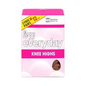 Leggs L'eggs Everyday One Size Suntan Sheer Toe Knee Highs - 12 CT