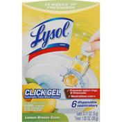 Lysol Automatic Toilet Bowl Cleaner, Lemon Breeze Scent, Click Gel