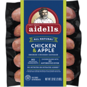 Aidells Smoked Organic Chicken Sausage, Chicken & Apple, 2 lb. (10 Fully Cooked