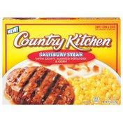 Country Kitchen W/Gravy Mashed Potatoes & Corn Salisbury Steak