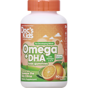 Docs Kids Omega + DHA, Squeeze The Day Citrus, Kids, Gummies