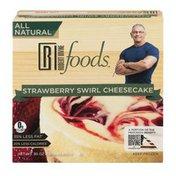 Robert Irvine Foods All Natural Strawberry Swirl Cheesecake