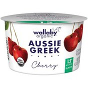 Wallaby Organic Greek Lowfat with Cherries Yogurt