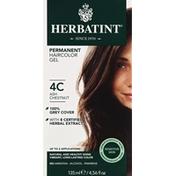Herbatint Permanent Haircolor Gel, Sensitive Skin, Ash Chestnut 4C