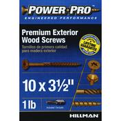 Power Pro Wood Screws, Exterior, Premium