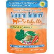 Natural Balance Dick Van Patten's Platefulls Indoor Formula Chicken & Chicken Liver in Gravy Cat Food