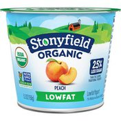 Stonyfield® Organic Lowfat Peach Yogurt