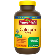 Nature Made Calcium 750 mg with Vit D & K
