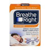 Breathe Right Nasal Strips Advanced - 26 CT