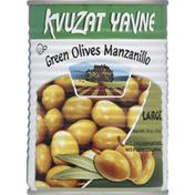 Kvuzat Yavne Green Olives Manzanillo Large