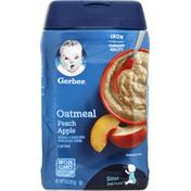 Gerber Cereal, Oatmeal, Peach Apple