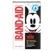 Band-Aid Brand Adhesive Bandages Featuring Disney Mickey, 100% Waterproof, All One Sizes