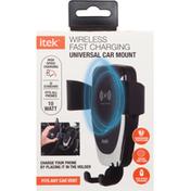 Itek Charger, Wireless, Universal Car Mount