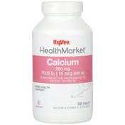 Hy-Vee Healthmarket, Calcium 500 Mg Plus D3 | 15 Mcg (600 Iu) Bone Health Support Calcium & Vitamin D3 Supplement Tablets
