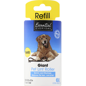 Essential Everyday Lint Roller, Pet, Giant, Refill
