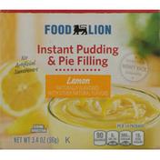 Food Lion Pudding & Pie Filling, Instant, Lemon