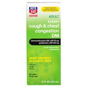Rite Aid Pharmacy Tussin DM, Cough & Chest Congestion Formula, for Adults, 12 fl oz (355 ml)