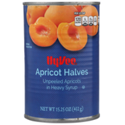 Hy-Vee Unpeeled Apricot Halves In Heavy Syrup
