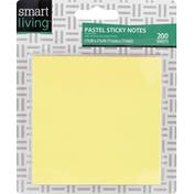 Smart Living Sticky Notes, Pastel